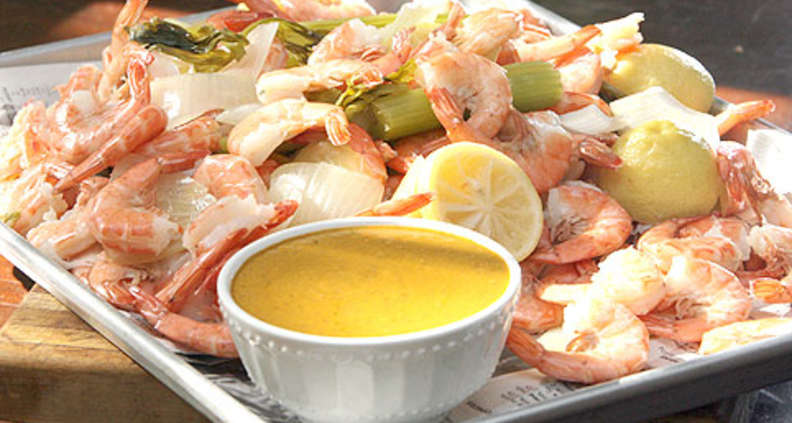 Beer Poached Shrimp