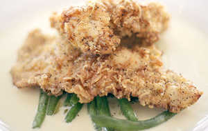 Buttermilk Fried Chicken with Green Chile-Horseradish Sauce