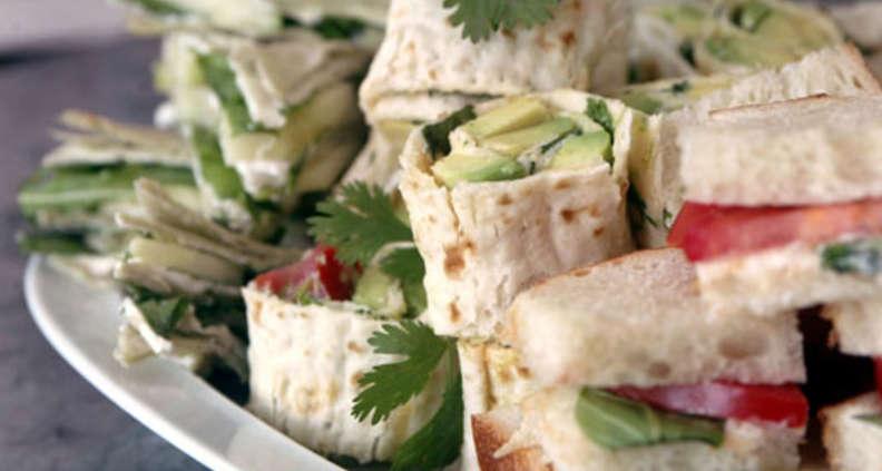 Trio of Herbed Summer Finger Sandwiches