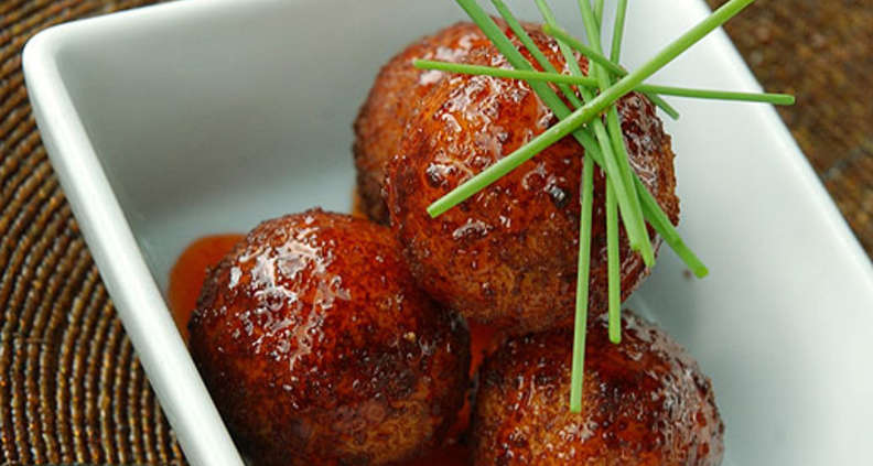 Lemon Crab Fritters With Red Chile Jelly