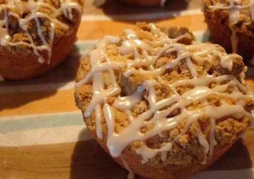 Apple Cream Cheese Crumb Cakes