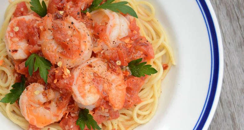 Coastal Shrimp Spaghetti