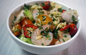 Spicy Shrimp and Orzo Pasta Salad