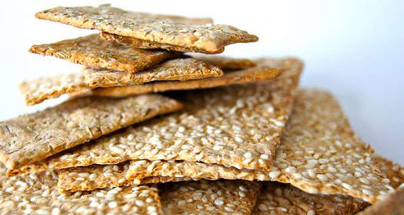 Sesame Cornmeal Crackers
