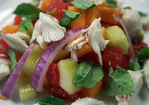 Crab and Summer Melon Salad