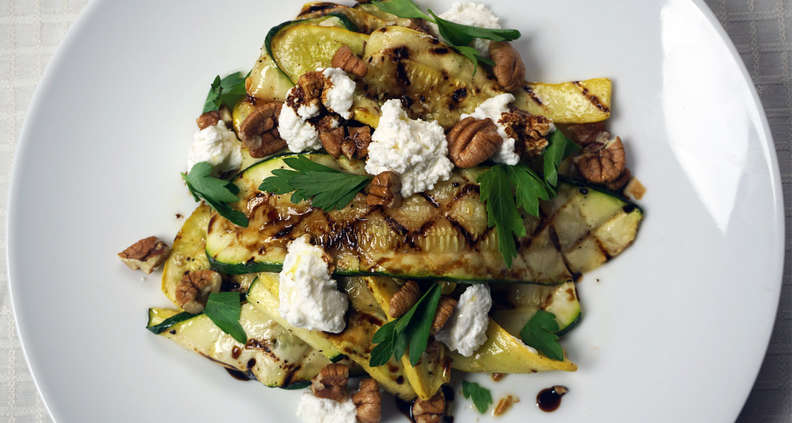 Grilled Zucchini and Summer Squash Salad