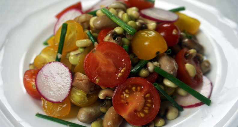 Tomato and Boiled Peanut Salad with Sherry Vinaigrette