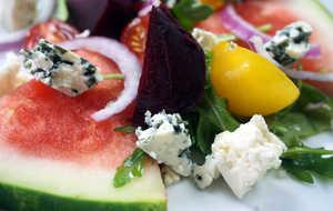 Watermelon and Braised Beet Salad