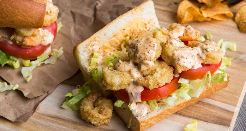 Shrimp Po'Boys with Quick Remoulade