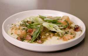 Shrimp and Grits with Andouille Gravy