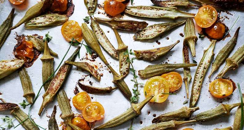 Anne Byrn's Roasted Okra and Tomatoes