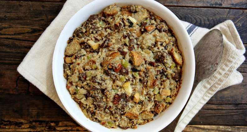 Cornbread Dressing with Pecans and Apples