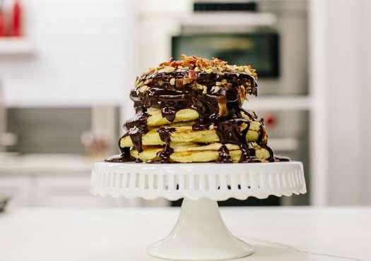 Elvis Pancake Stack Cake