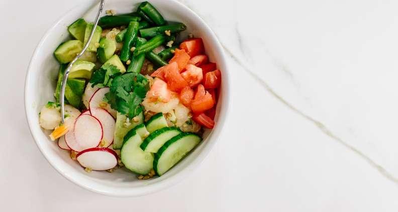Shrimp and Farro Grain Bowl with Lime Vinaigrette