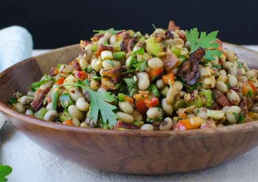 Smoky Bacon and Black-Eyed Pea Salad
