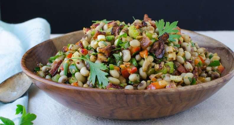 Smoky Bacon and Black-Eyed Pea Salad