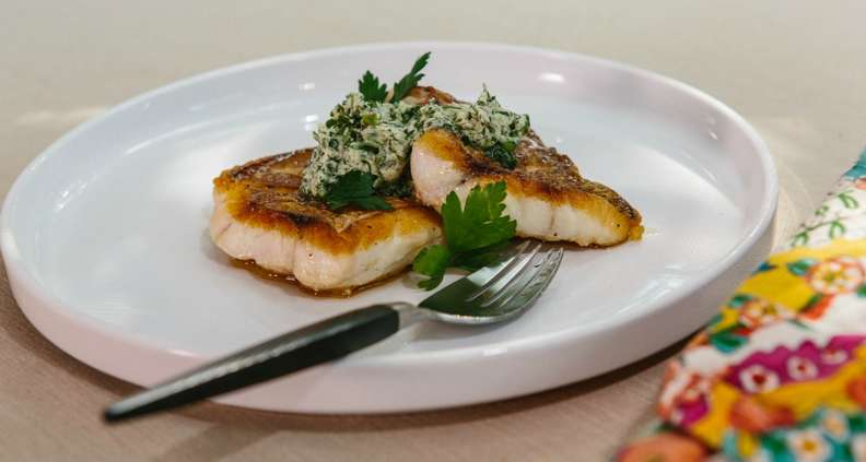 Pan-Roasted Fish with Herb Compound Butter