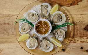 Oysters with Muscadine Mignonette