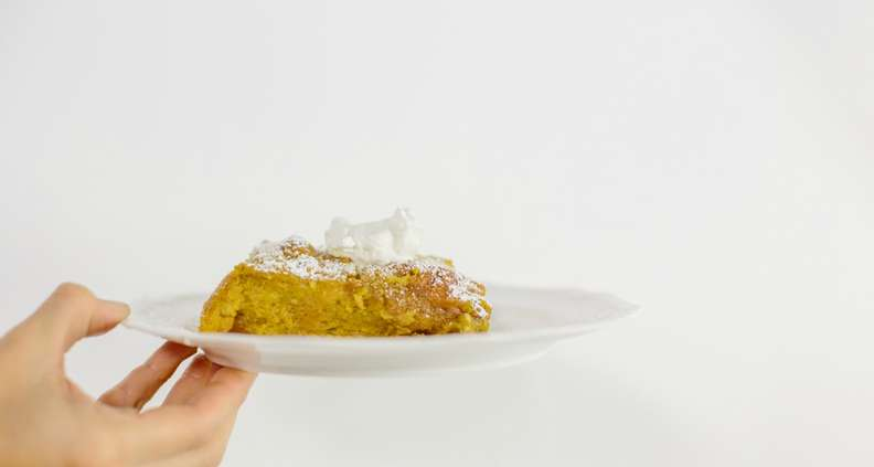 White Chocolate and Pumpkin Bread Pudding
