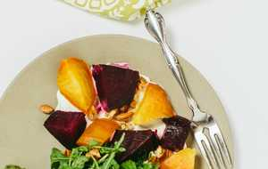 Salt-Roasted Beet Salad with Goat Cheese Mousse