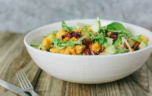 Fall Harvest Salad with Dijon Vinaigrette