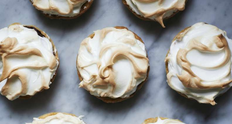 Chocolate Meringue Tarts