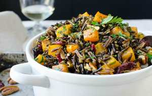 Wild Rice Butternut and Pecan Pilaf