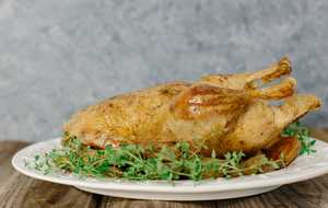 Whole Roast Duck with Potatoes