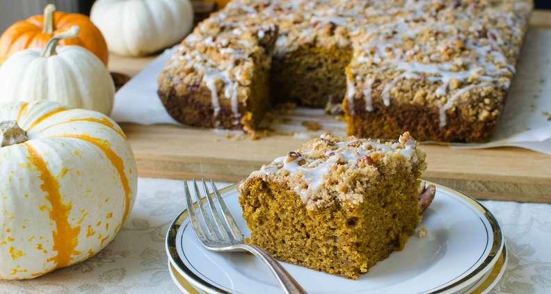 Pumpkin Pecan Streusel Snack Cake