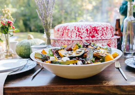 Grilled Kabocha Squash Salad with Maple Vinaigrette