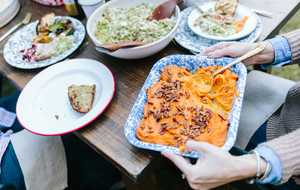 Fire-Roasted Sweet Potatoes with Pecans