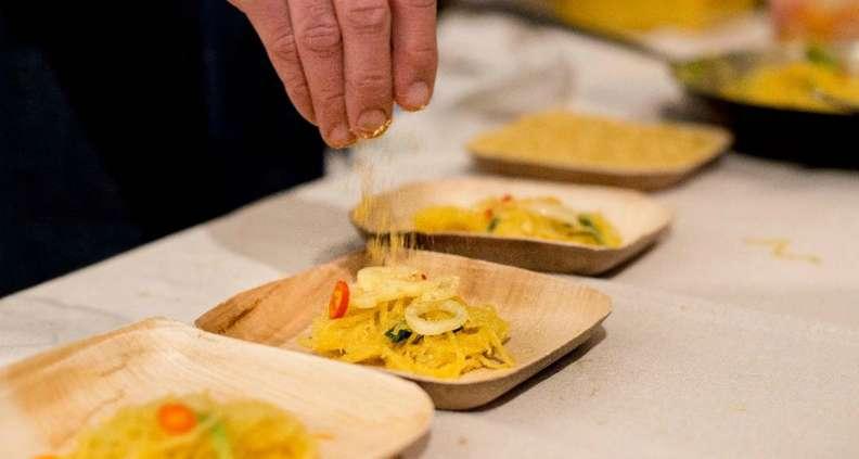 Roasted Spaghetti Squash in Squash Seed Broth
