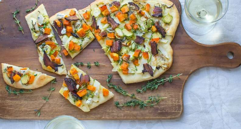 Bacon, Butternut and Blue Cheese Flatbread