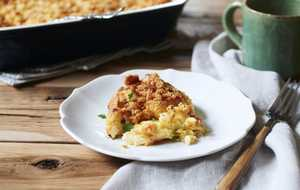 Make-ahead breakfast strata