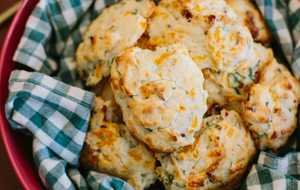 Bacon-Cheddar Drop Biscuits