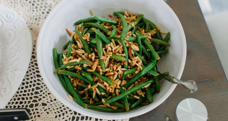 Green Beans with Almond Brown Butter