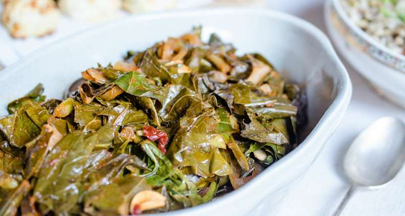 Smoky vegan collard greens