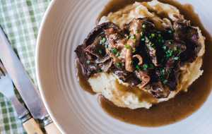 Beef Tongue Pot Roast with Onion Gravy