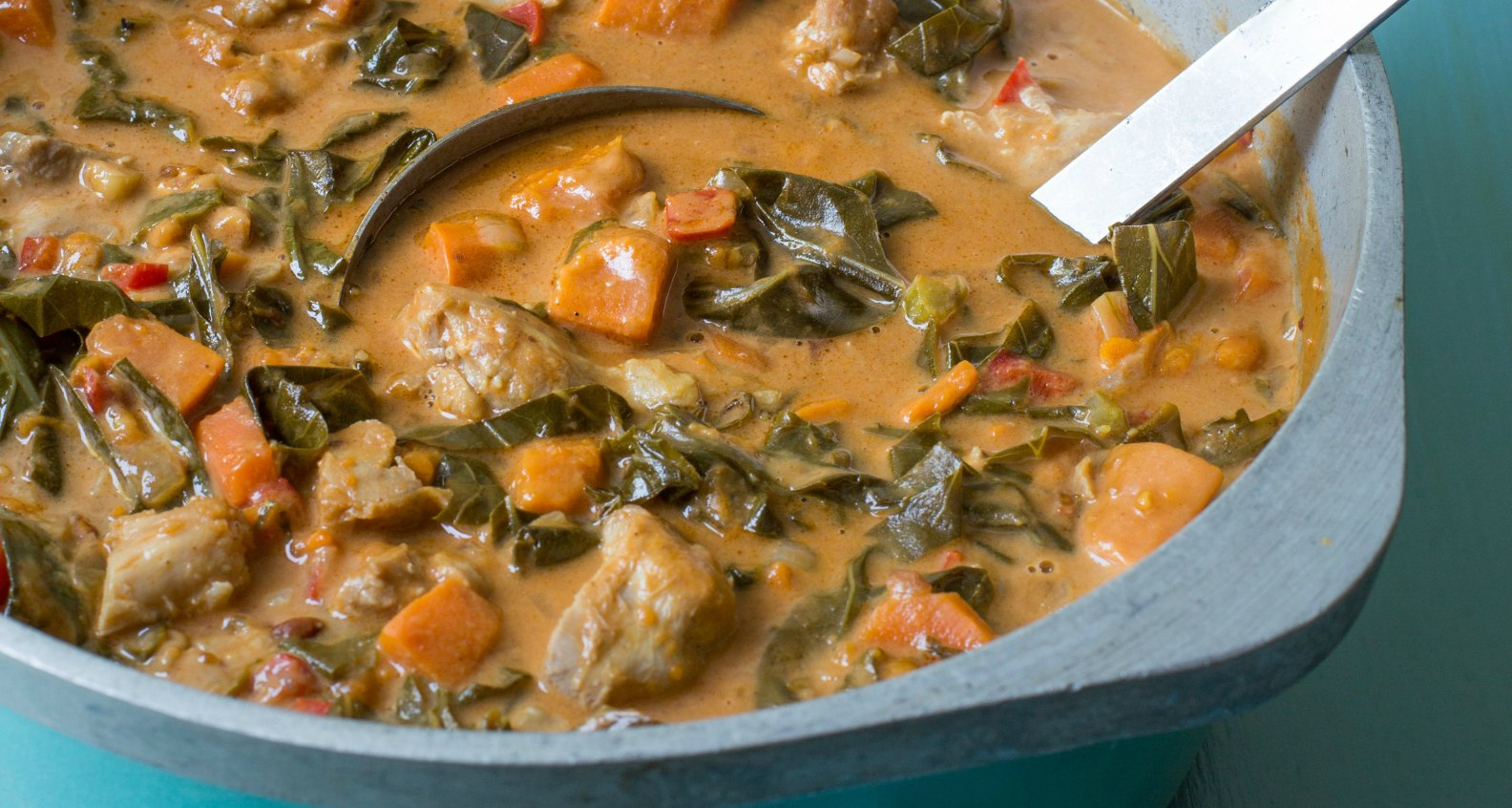 Virginia Willis West African Chicken Stew With Collard Greens And Peanuts Southern Kitchen