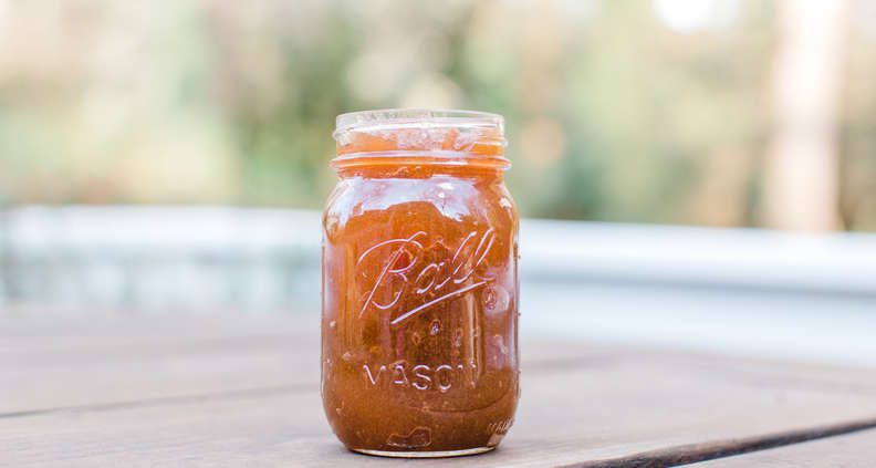 Apple Cider Bourbon Jelly