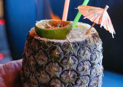 Tropical Snow Cocktail