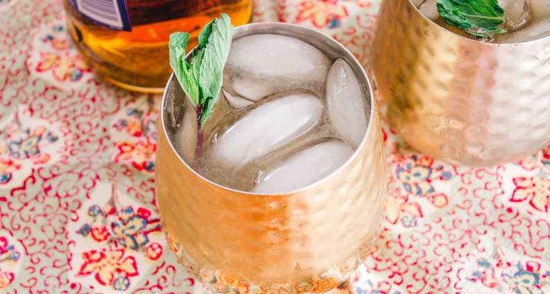 Bourbon-Mint Strong Palmer Cocktail