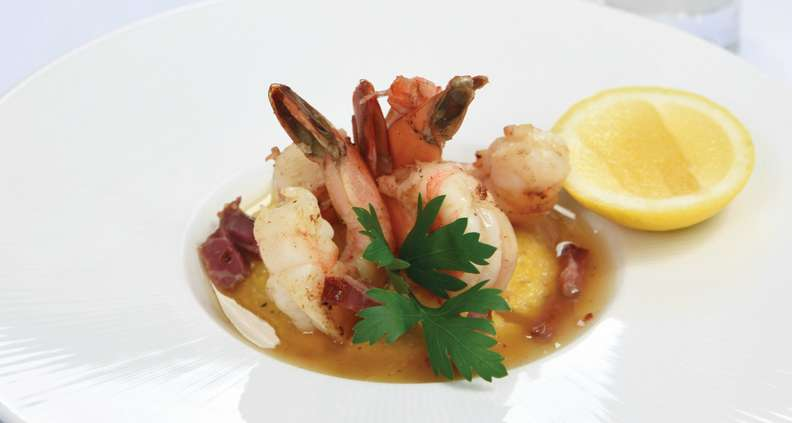 Derby Shrimp and Grits with Tasso Gravy