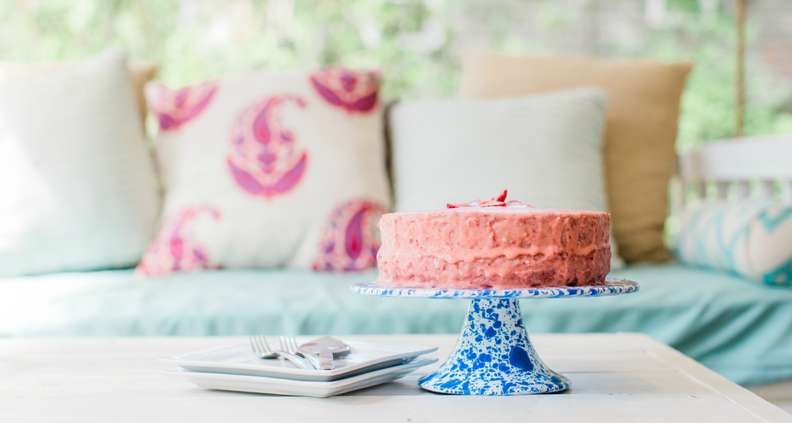 Old fashioned strawberry cake
