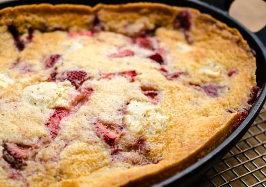 Strawberries and Cream Cobbler