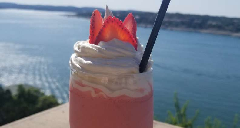 Boozy Strawberry Milkshake