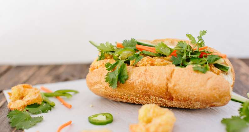 vietnamese shrimp poboy