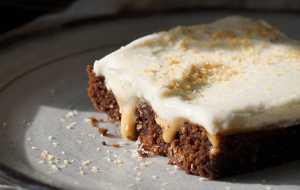 Caramel Cream Cheese Poke Cake
