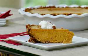 Butternut Squash Pie with Pecan Crust