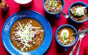 Instant Pot Turkey and Black Bean Chili